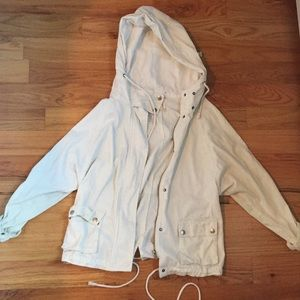 White utility jacket